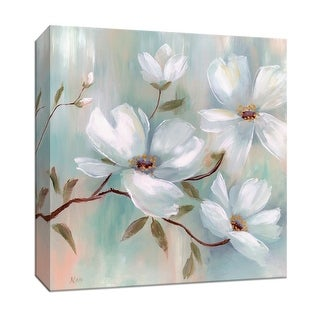 "PTM Images 9-147081  PTM Canvas Collection 12"" x 12"" - ""Spring Blush I"" Giclee Flowers Art Print on Canvas"