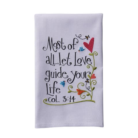 Bible Verses Inspirational Hand Towels - Set of 4