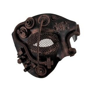 Metallic Steampunk Phantom Half Face Masquerade Mask