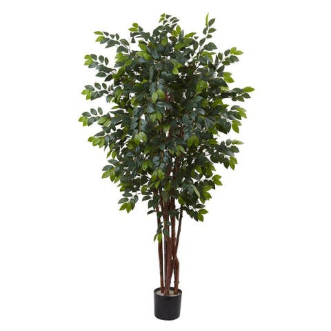 Nearly Natural Decorative 7' Sakaki Silk Artificial Faux Tree - Not Available
