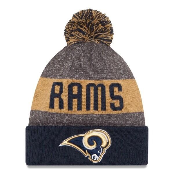 New Era NFL 2016 Sideline Knit Pom Beanie Hat - Los Angeles Rams