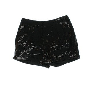Patterson J. Kincaid Womens Sequined Cuffed Dress Shorts - S