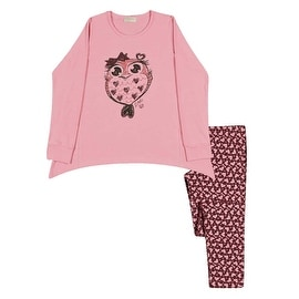 Girl Outfit Long Sleeve Shirt and Leggings Kids Set Pulla Bulla Sizes 2-10 Years