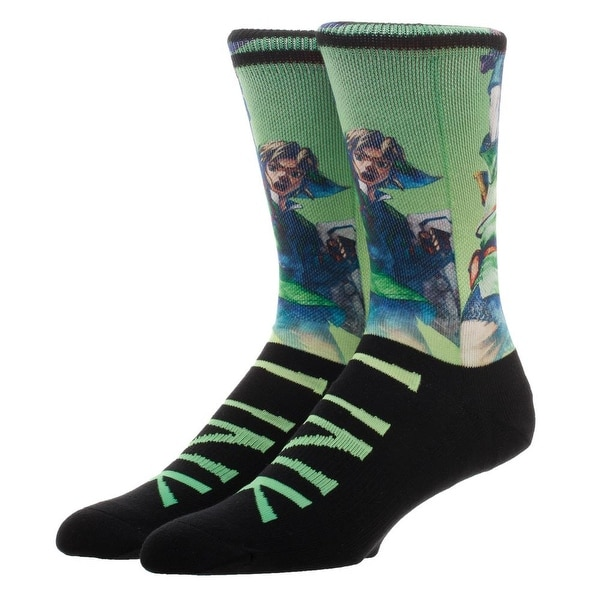 Zelda Sublimated Over Knit Crew Socks