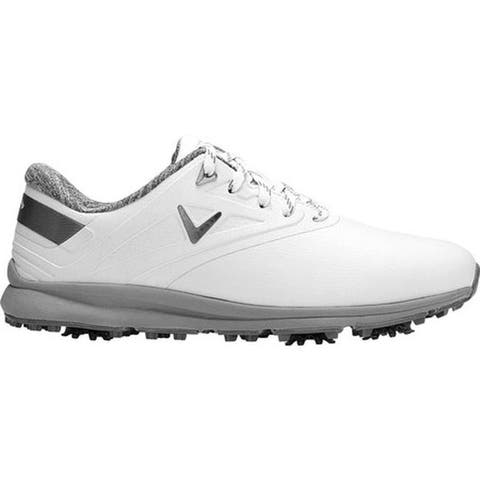 Callaway Women's Coronado Waterproof Golf Spike White Microfiber Leather