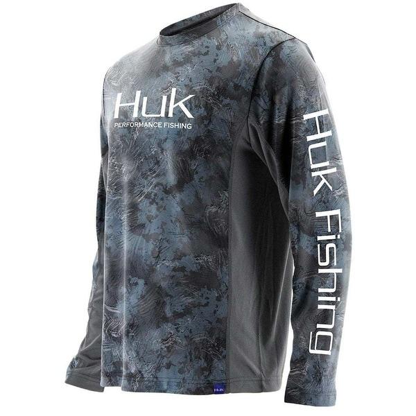 7b178005 Shop Huk Men's Icon Camo Subphantis Glacier Large Long Sleeve Shirt ...