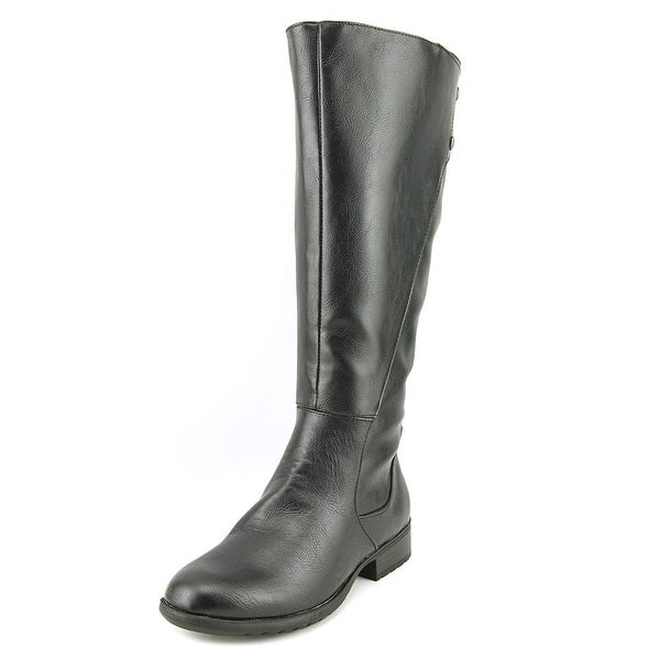 Life Stride Rosaria Wide Calf Women Round Toe Synthetic Black Knee High Boot
