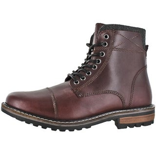 Crevo Men's Camden Leather Fashion Combat Boots