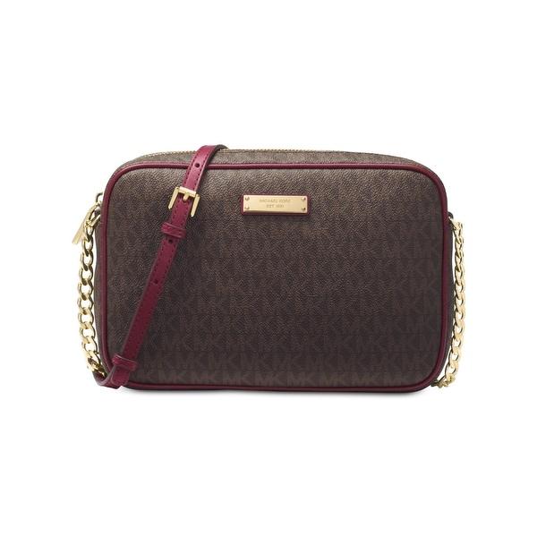 5b4d447f93d8 Shop MICHAEL Michael Kors Womens Jet Set Crossbody Handbag Signature ...