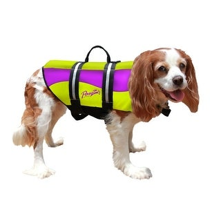 Pawz Pet Products Neoprene Dog Life Jacket Extra Extra Small Yellow / Purple