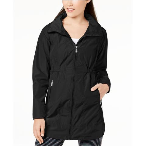 Calvin Klein Performance Women's Long-Line Hooded Jacket, Black (L)