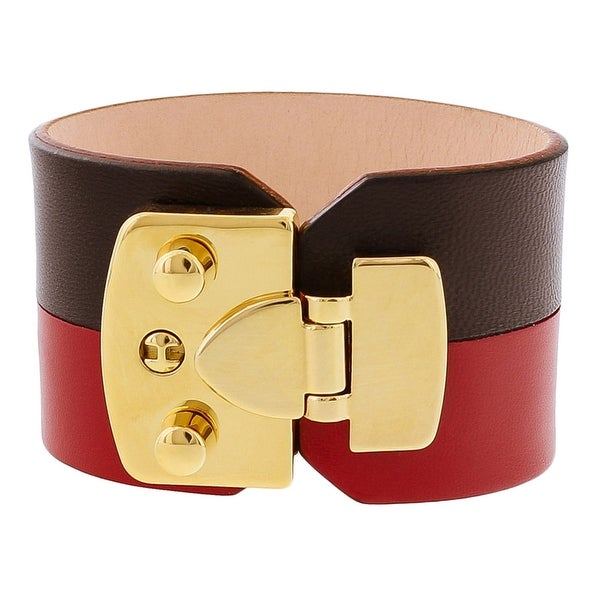 Stamerra BOSSA NERO Red Genuine Leather Cuff Bracelet