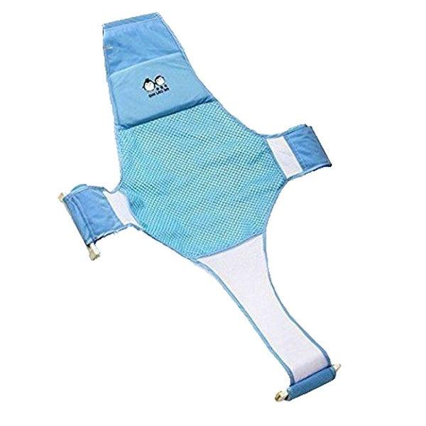 Shop Newborn Baby Bath Net Sling Shower Mesh Seat Support Blue ...