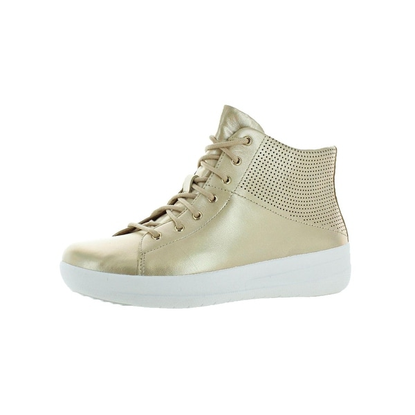 53ca4718d Fitflop Womens F-Sporty Fashion Sneakers Leather High Top. Click to Zoom