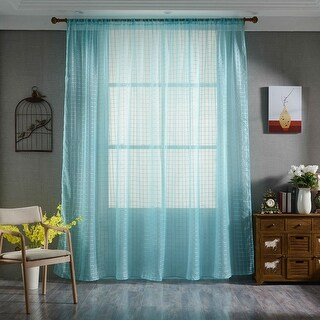 "78.7"" x 39.4"" Sheer Curtains Voile Tulle Window Scarf Curtain Panels"