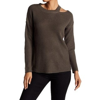 RDI Olive Womens Large Cut-Out Knit Pullover Sweater