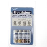 Beadalon 4 Color Assorted Variety Pack Plated Crimp Tubes 1.5mm (500 Total)