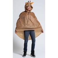 Giraffe Party Poncho Costume, Giraffe Costume - Brown - One Size Fits Most
