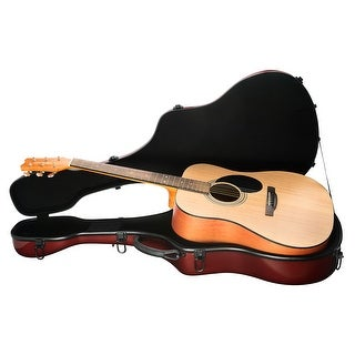 Knox Gear Fiberglass Acoustic Guitar Case (Maroon) - Maroon