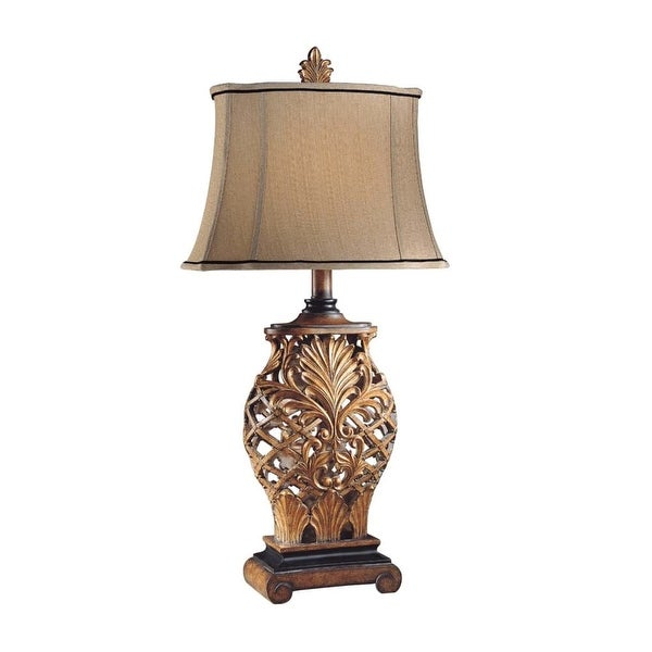 Ambience AM 10693 1 Light Table Lamp from the Jessica McClintock Home Collection - weathered lattice - n/a
