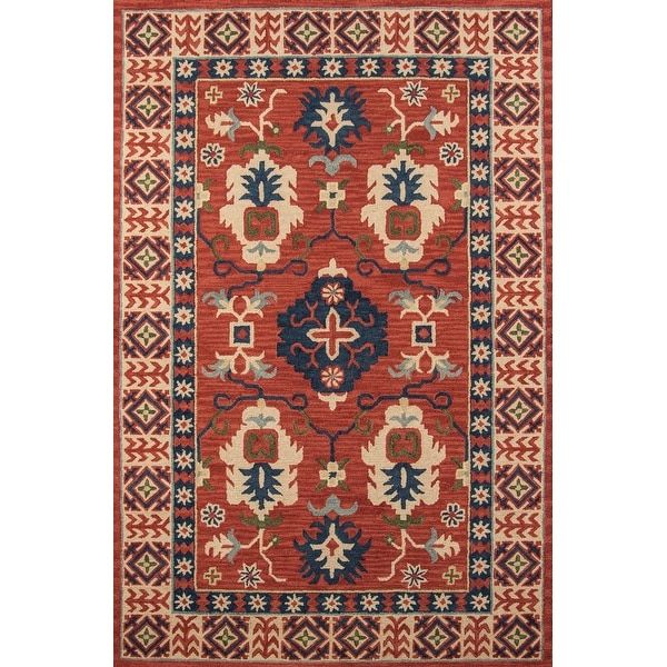 "Momeni Tangier Red Hand-Tufted Wool Rug (9'6 X 13'6) - 9'6"" x 13'6"""