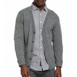 Dockers NEW Gray Mens Size Large L Button-Front Cardigan Wool Sweater