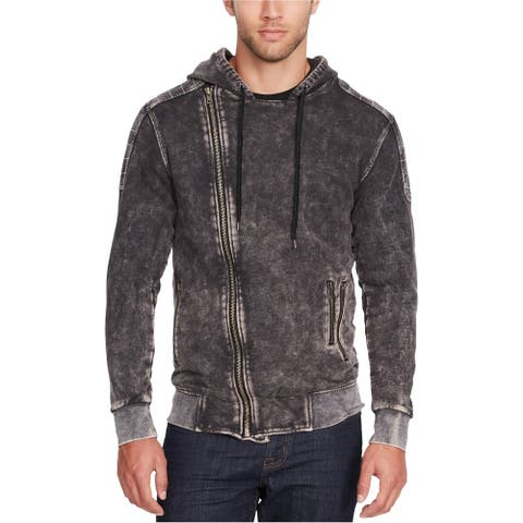 William Rast Mens Cruiser Full Zip Hoodie Sweatshirt