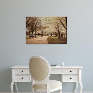 Easy Art Prints Natalie Mikaels's 'Springtime Stroll' Premium Canvas Art