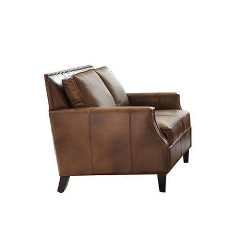 Leaton Brown Sugar Upholstered Recessed Arms Loveseat