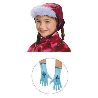 Disney Frozen Anna Bonnet & Gloves Costume One Size - Pink