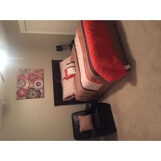 Orelia Orange Embrodiery 7-piece Comforter Set