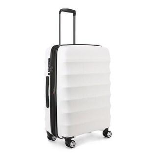 Antler Juno DLX Hardside Expandable Luggage Medium, White