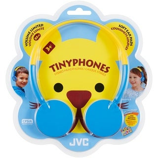 JVC Compact Tiny Foldable Headphones for Kids - Wired - Blue