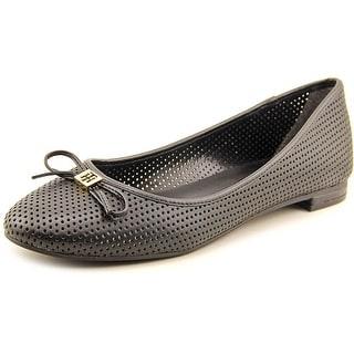 Tommy Hilfiger Mirella Women Round Toe Leather Black Flats