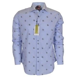 Robert Graham Men's DELCOA Skulls Cotton Button Down Sports Dress Shirt