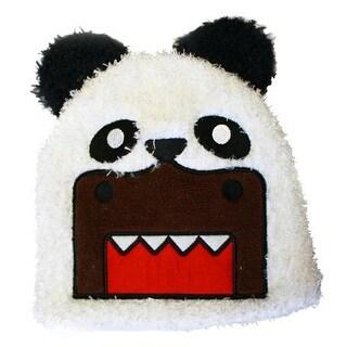 Domo Panda Bear Fuzzy Beanie Cap