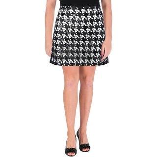 Rachel Zoe Womens Sara Sequined Lace Overlay Mini Skirt - 8