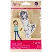 "Julie Nutting Mixed Media Cling Rubber Stamps-Daisy 3.5""X8"""