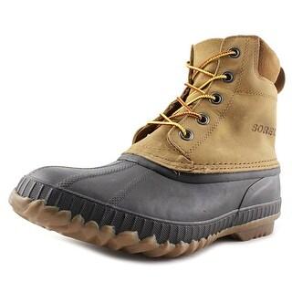 Sorel Cheyenne Lace Men Round Toe Leather Brown Rain Boot