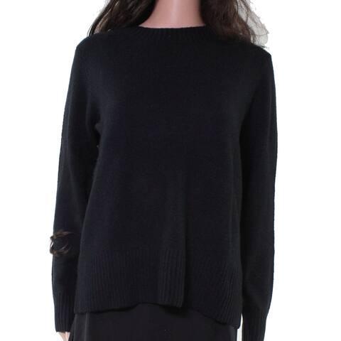 Charter Club Womens Sweater Black Size Medium M Pullover Crewneck