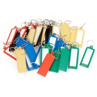 Unique Bargains 50 Pcs Plastic ID Card Keyring Name Tag Badge Clip Holder Office Students Stationery Assorted Color