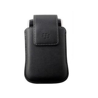 OEM BlackBerry Leather Holster Case for Storm 9530 9500 - Black