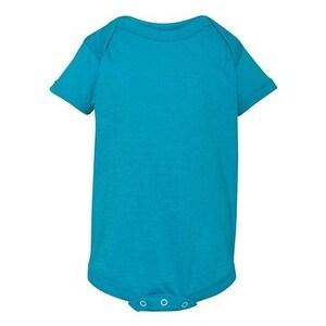 Infant Vintage Fine Jersey Bodysuit - Vintage Turquoise - 24M