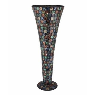 Astonishing Mosaic Designed Modern Vase, Black