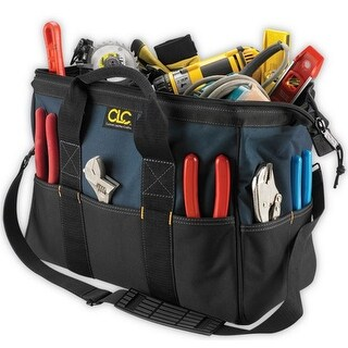 CLC 1165 Large BigMouth Tool Tote Bag, 22 Pockets