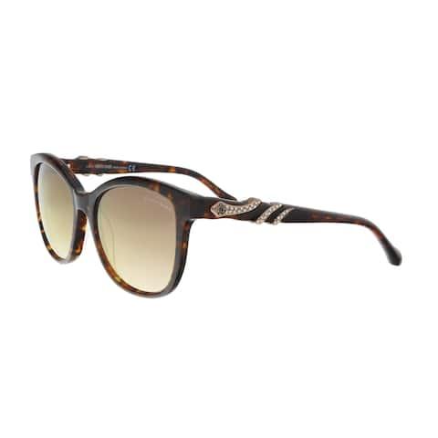 Roberto Cavalli RC877S/S 52G KRAZ Havana Square Sunglasses - 54-17-135