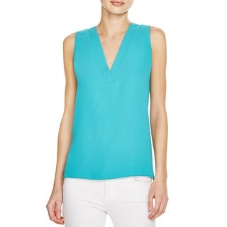 Cooper & Ella Womens Ellie Blouse V-Neck Sleeveless - s