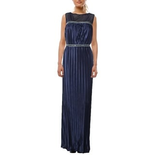 London Times Womens Evening Dress Embellished Illusion-Yoke