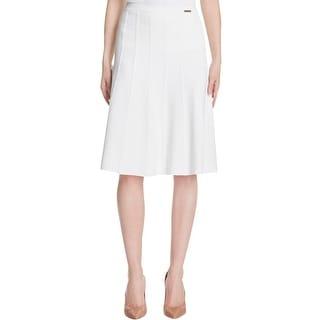 MICHAEL Michael Kors Womens A-Line Skirt Textured Knit
