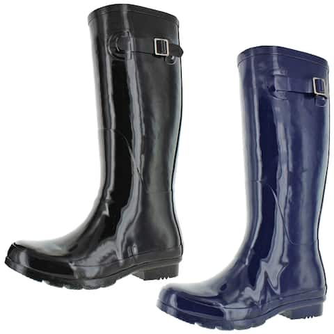Nomad Women's Hurricane II Shiny Rubber Tall Wellie Rain Boots